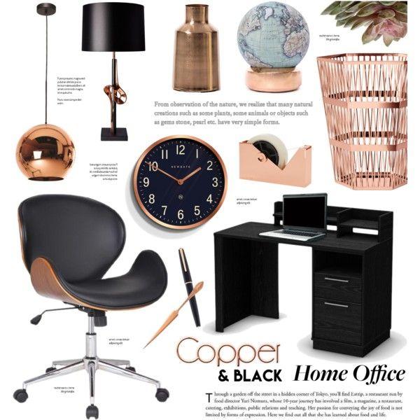 Home office - Copper & Black