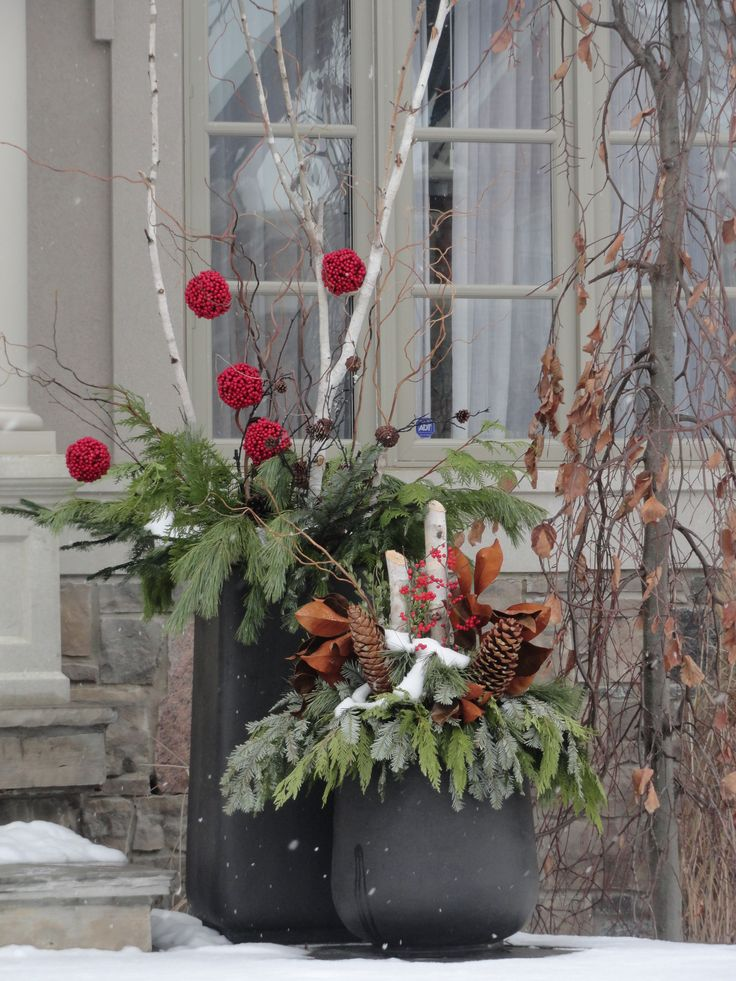 17 Best Images About Winter Planters On Pinterest