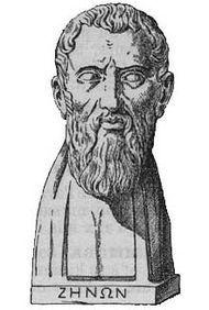 Zenão de Eleia, (em grego antigo: Ζήνων ὁ Ἐλεάτης; cerca de 490/485 a.C.--430 a.C.) foi um filósofo pré-socrático da escola eleática que nasceu em Eleia, hoje Vélia, Itália. Discípulo de Parmênides de Eleia, defendeu de modo apaixonado a filosofia do mestre. Seu método consistia na elaboração de paradoxos. Deste modo, não pretendia refutar diretamente as teses que combatia mas sim mostrar os absurdos daquelas teses (e, portanto, sua falsidade)