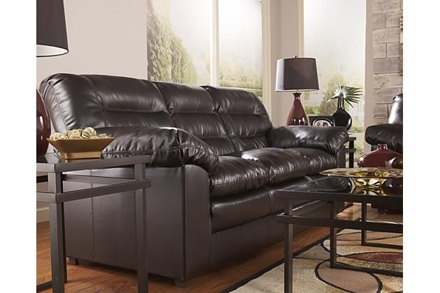 Contemporary three person brown leather couch for your living room décor