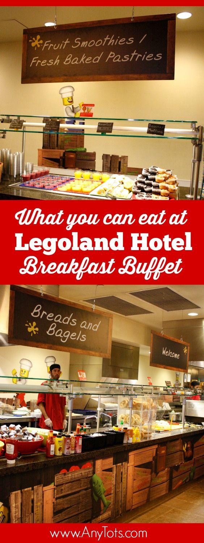 Legoland Hotel Breakfast Buffet. Check out eveything you can eat at Legoland Hotel Bricks Restaurants. More Legoland Tips via www.anytots.com