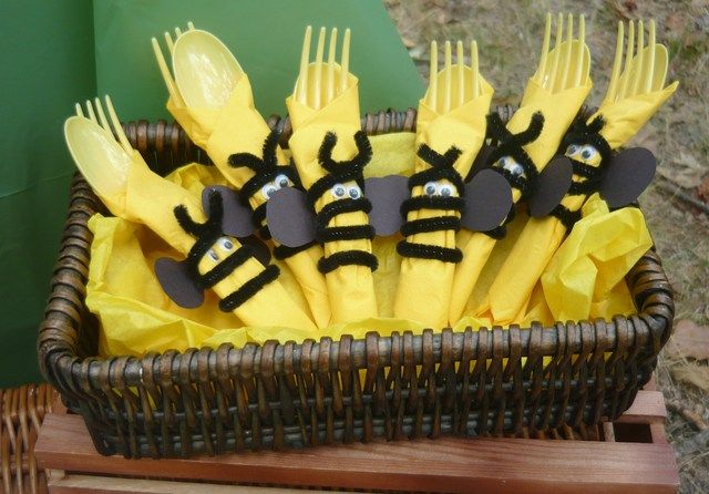 Cute bumble bee cutlery #bumblebee