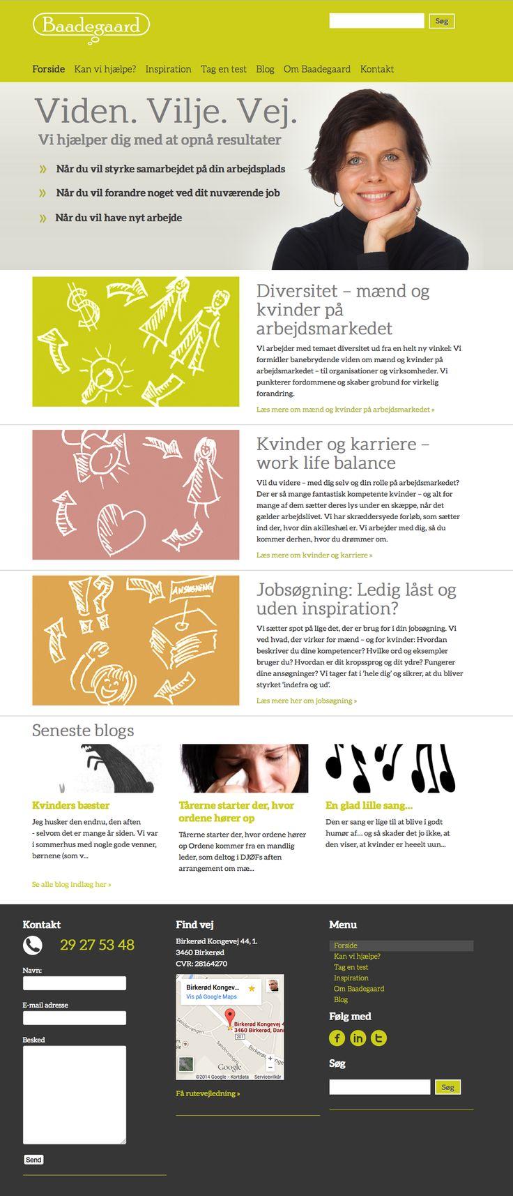 Responsiv webdesign for Birgitte Baadegaard | 2014