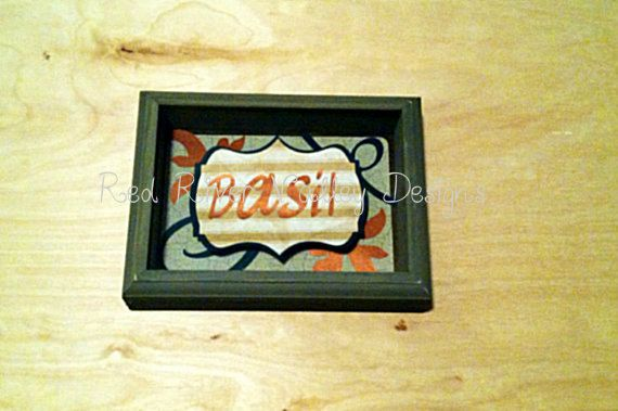Olive Green wooden shadow box frame home decor by