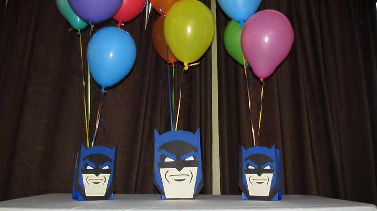 Super Hero Batman Party Centerpiece by DreamComeTrueParties, $16.00