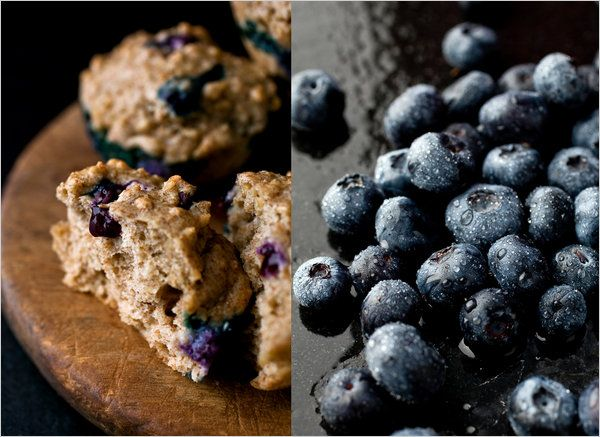 Steel-Cut Oatmeal and Blueberry Muffins ~ I just made these and they are fabulous. I also made a low fat version by substituting the oil with a medium ripe banana. Yum!