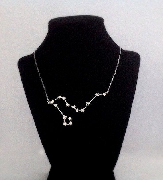 Draco Constellation Necklace Sterling Silver
