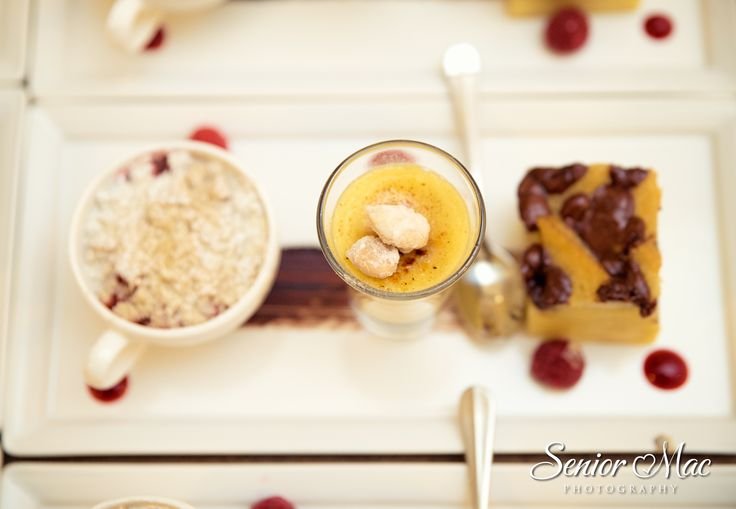 Winter comfort food favourites - Fruit crumble, crème brulee, bread and butter pudding #weddingdesserts