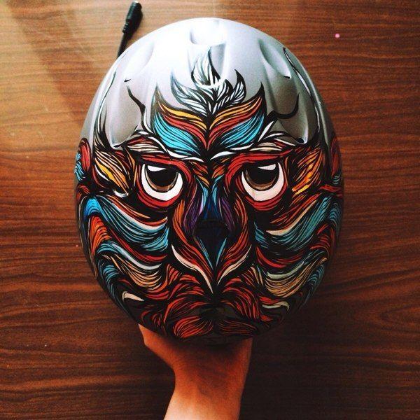Owl Helmet on Behance