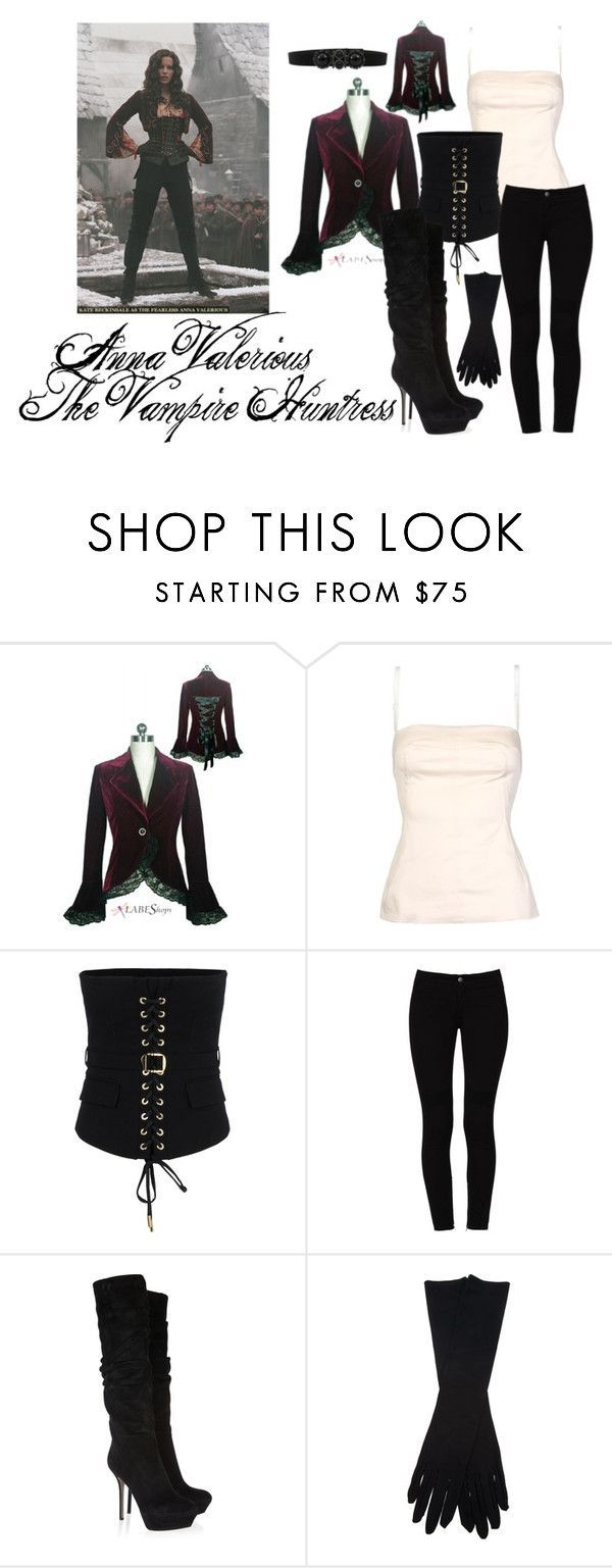 """""""Anna Valerious: The Vampire Huntress"""" by enyalovingperson ❤ liked on Polyvore featuring D&G, Dsquared2, STELLA McCARTNEY, Sergio Rossi, Maison Margiela, Oscar de la Renta, VanHelsing and AnnaValerious"""
