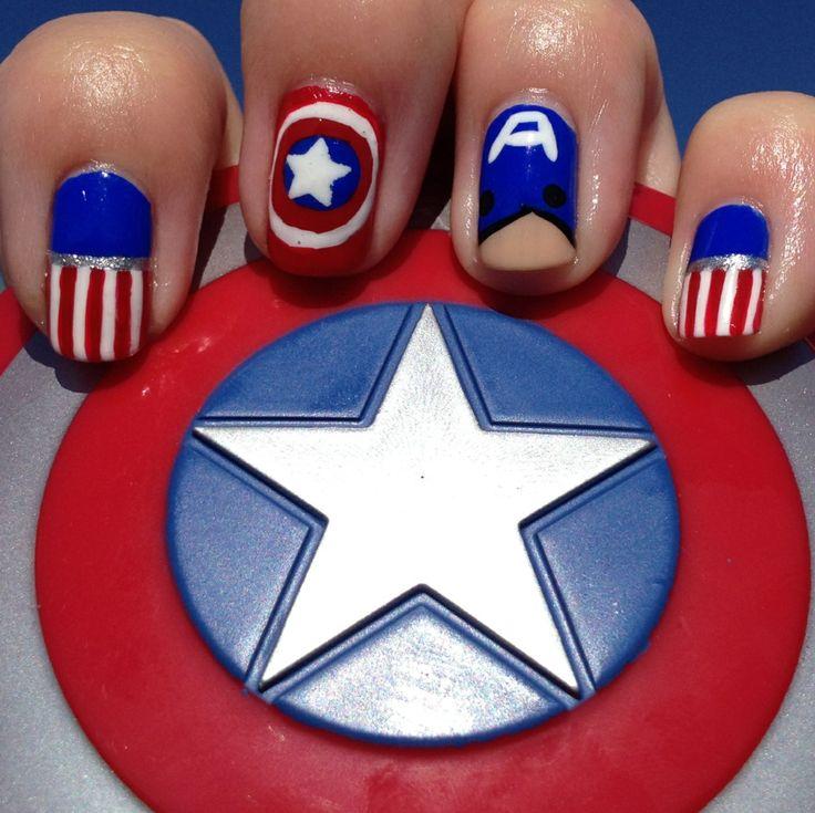 My Captain America nails