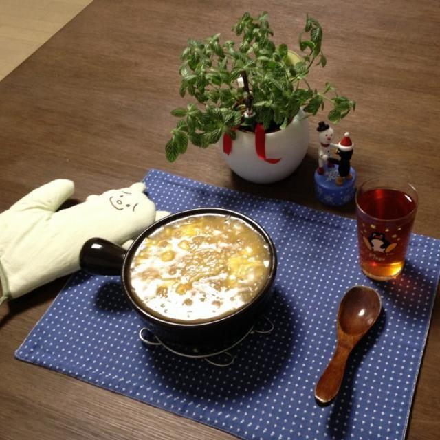 寒くなったから、熱々のあんかけ雑炊を! やけどしないようにフーフーして召し上がれ! (^。^) - 19件のもぐもぐ - ふかひれ中華雑炊、プーアル茶 by pentarou