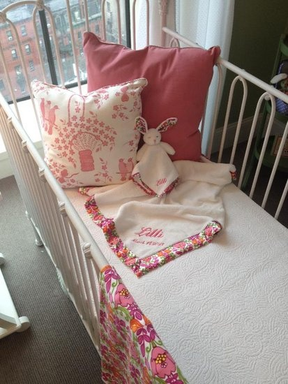 How cute is this bedding from Vera Bradley Baby, coming out in March