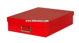Red Cardboard Storage Boxes With Lids