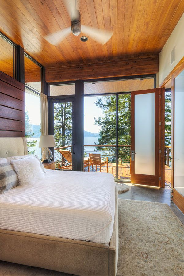 Cabin on a cliff overlooking Coeur D'Alene Lake by Uptic Studios