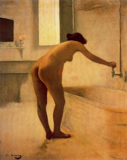 At the Bath - Ramon Casas