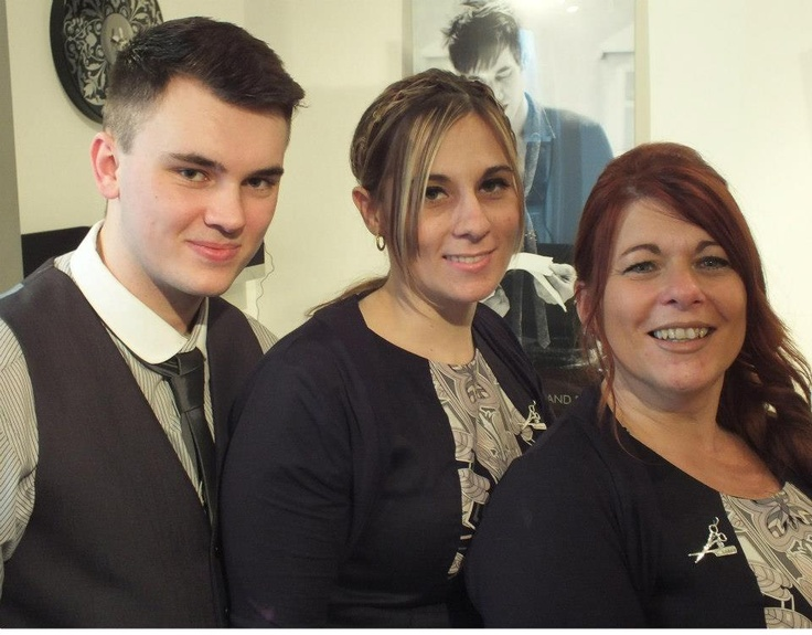 Styling team- Nick, Keighley and Sharon