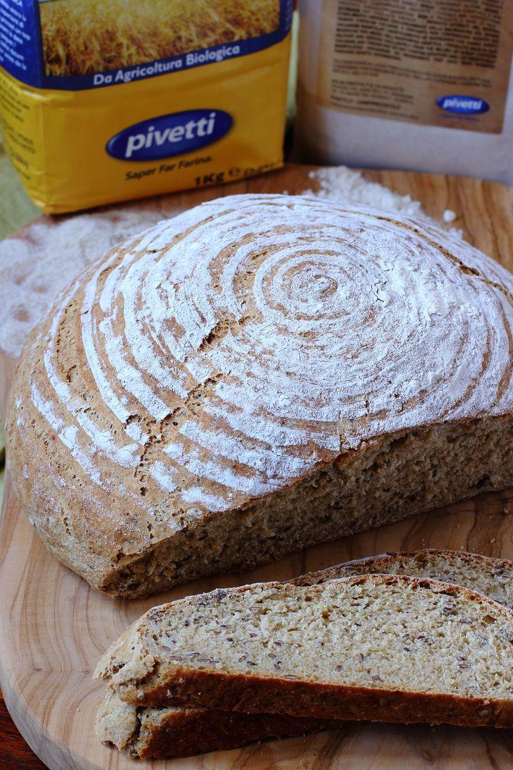 Pane di Farina Integrale con Cruschello, Germe di grano e Semi di lino Pivetti