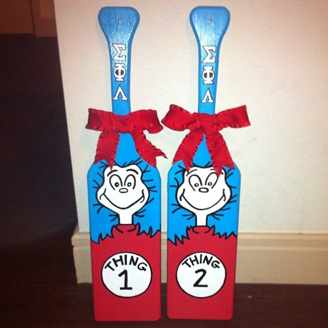 Thing 1 & Thing 2 Paddles - great for twin littles!