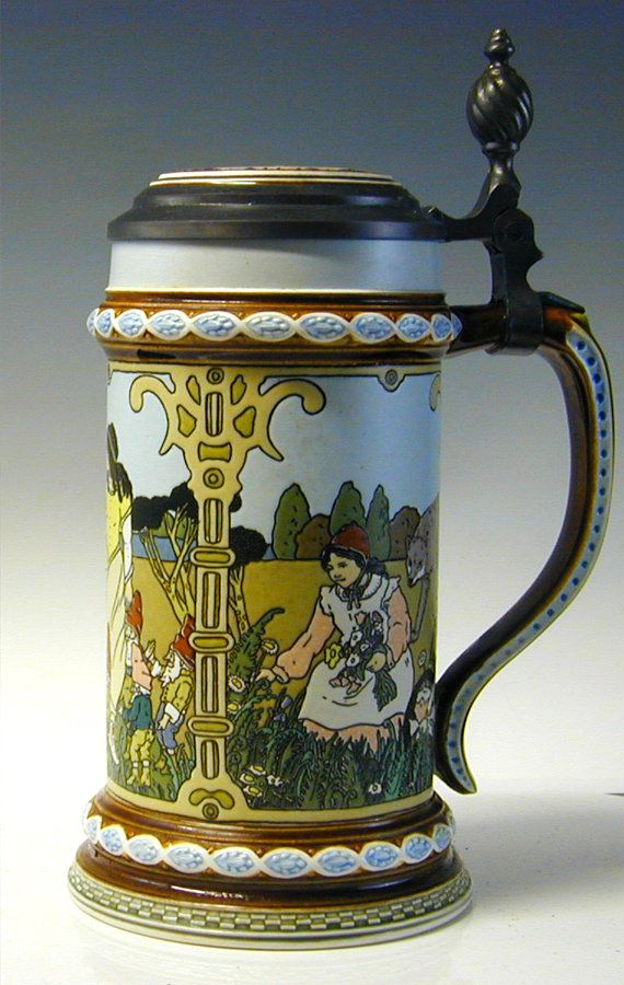 villeroy boch mettlach stein brothers grimm stein number 2901 fairy tale stein snow. Black Bedroom Furniture Sets. Home Design Ideas