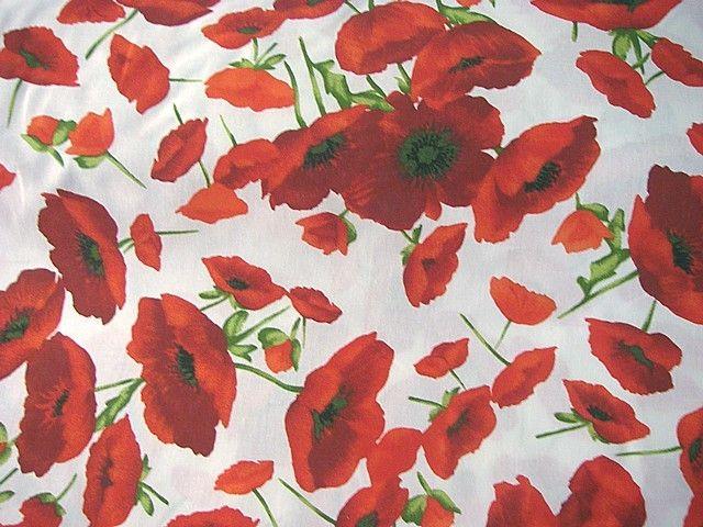 Stoff Blumen Baumwoll Stoff Mohnblumen Ein Designerstuck Von Stoffe Tippel Bei Dawanda Mohnblume Mohn Blumen