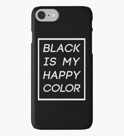Black is my happy color - Skam Sana iPhone Case/Skin