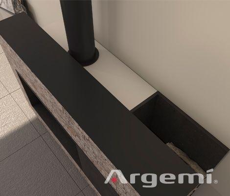 Detalle de chimeneas modernas de diseño Cadí con recuperador de calor #chimeneas #leña #obra #diseño #modernas