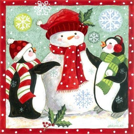 Penguins and snowmen