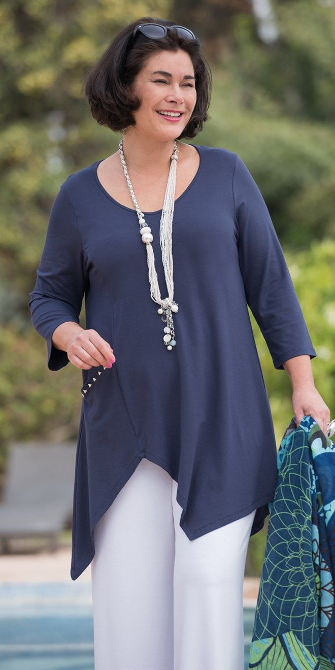 Kasbah navy jersey long v neck top Explore our amazing collection of plus size fashion styles and clothing. http://wholesaleplussize.clothing/
