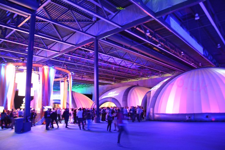 Inflatable Domes at Barcelona Conference with coloured, changing mood lighting creating a unique look and ambience. #EvolutionDome #ColouredLighting #MoodLighting #InflatableDome #EventStructure #TemporaryStructure #Conference #Corporate #popup #AbientLighting #EventProduction #EventIdeas #TradeShow #Marquee