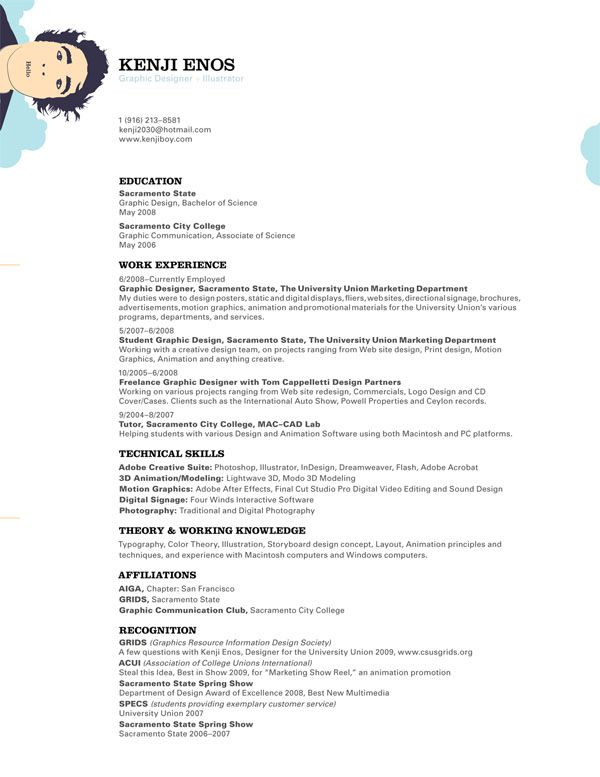30 simple resume design ideas that work - Profile Resume Example