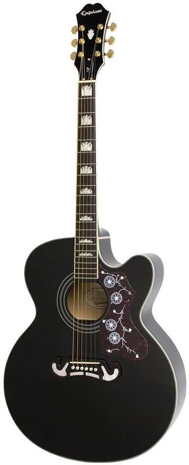 Epiphone EJ-200CE Electro Acoustic Guitar, Black
