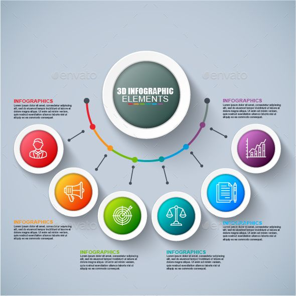 Business 3d infographics Template Vector EPS, AI Illustrator
