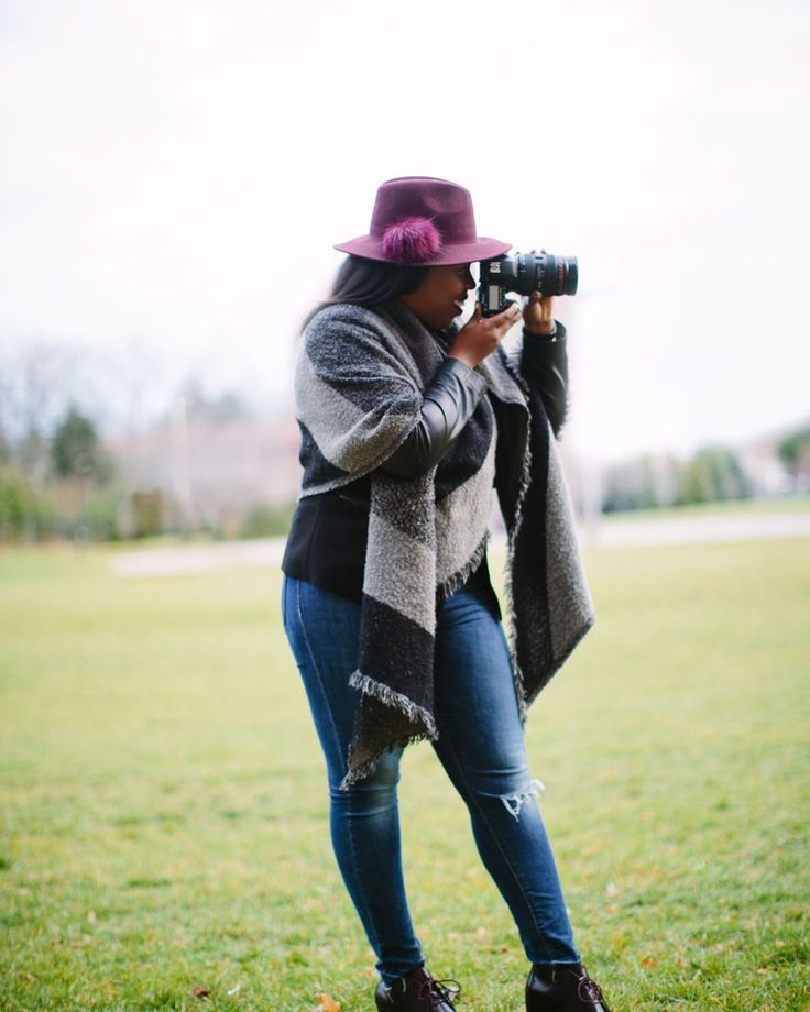 Behind the scenes at a fall photo shoot!