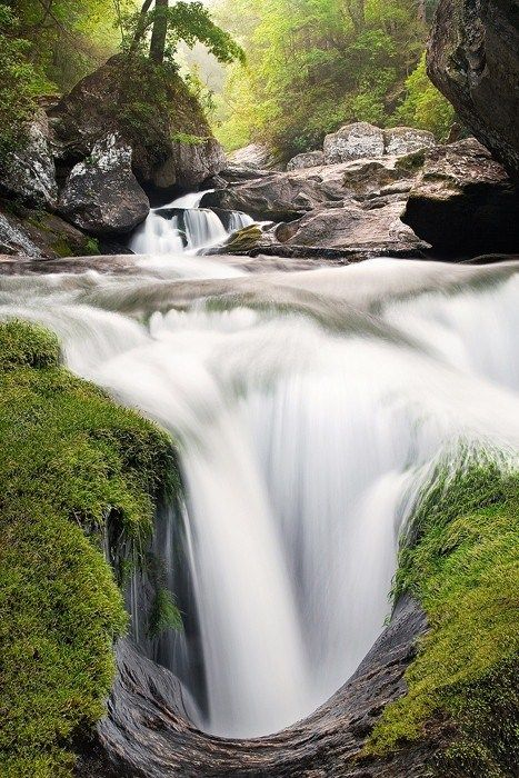 An incredibly beautiful geologic feature deep in the Cullasaja Gorge of western North Carolina A continuous flow Of Beauty ** WATER SO BEAUTIFUL** jg