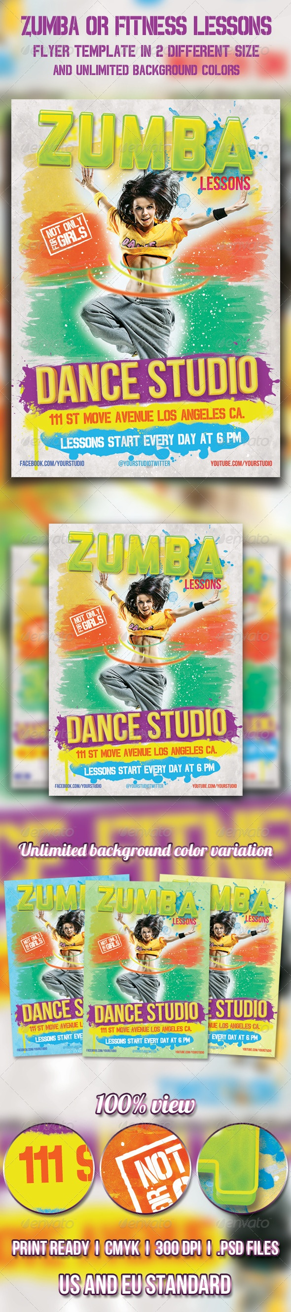 zumba flyer fitness  dance  dance flyer  fitness  fitness
