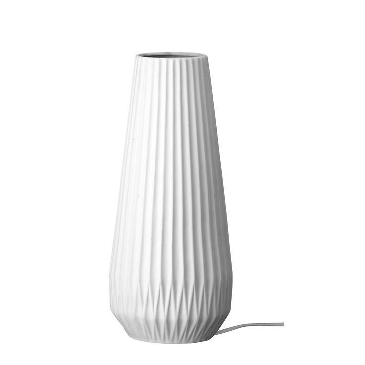 Lampe en porcelaine - Lampe de table en porcelaine Bloomingville.