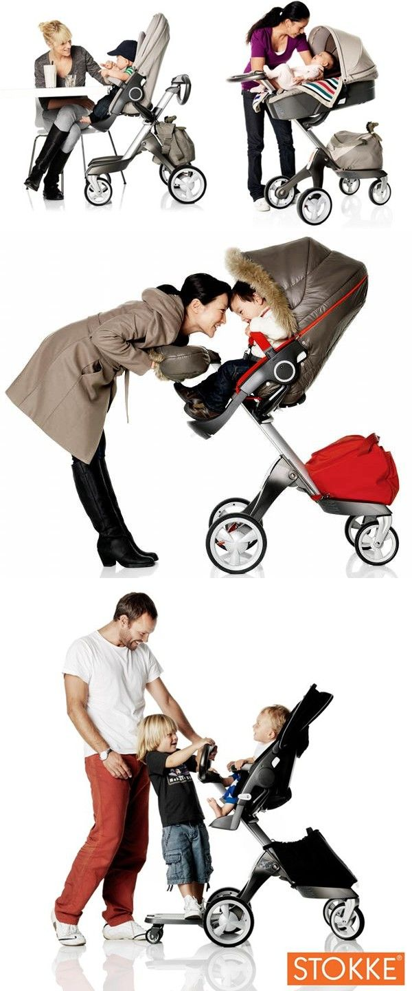 """Pinner says, """"Stokke stroller was an easy decision... This stroller is our favorite baby gear."""""""