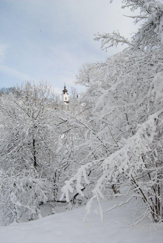 Dawna Cerkiew Łemkowska w Jaworkach #cerkiew #Szczawnica #Wąwóz #Homole #góry #zima