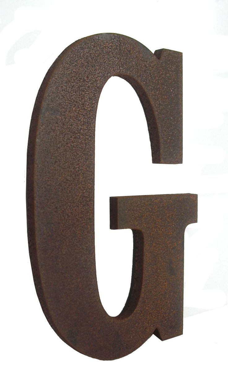 sample letter to attorney%0A Rustic Hot Rolled Steel Letters           stud with spacer       standoff  finish