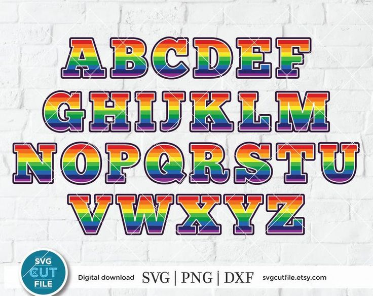 Download Rainbow letters svg unicorn svg birthday alphabet svg ...