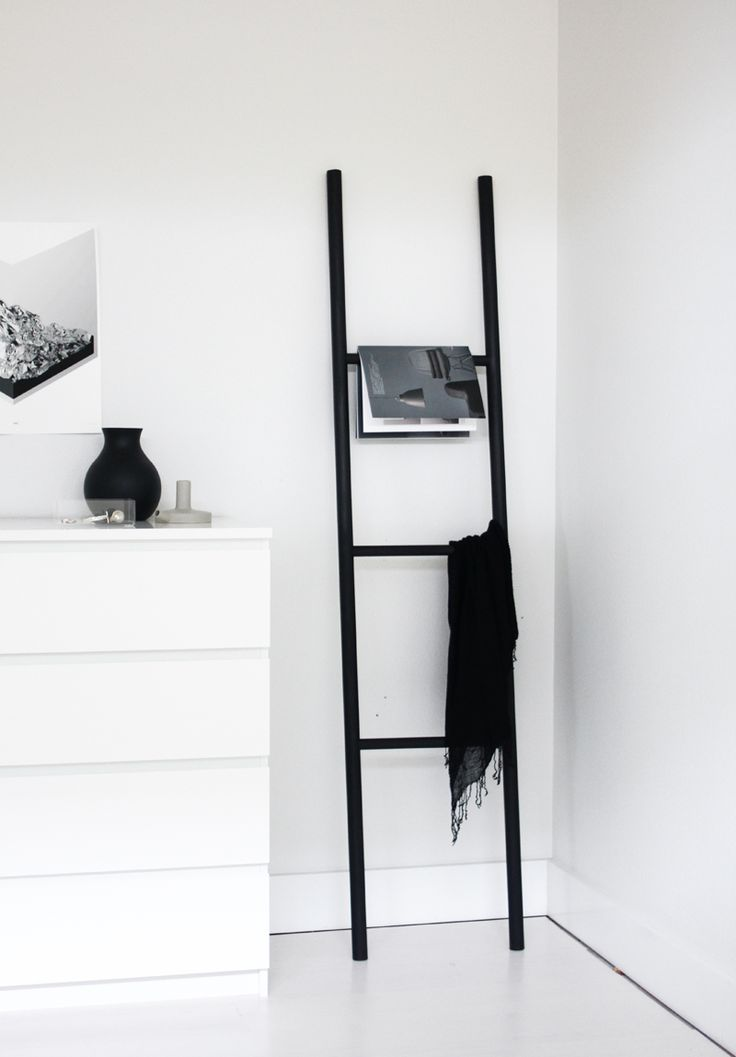 The decorative ladder is a great way display magazines or hang towels, jackets or scarves.