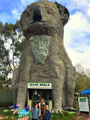 Giant Koala - another shot of this BIG icon from TAWKer Melissa Curry