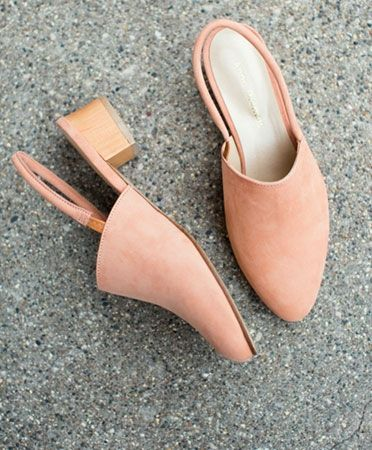 Anne Thomas Peach Williamsburg Slingback