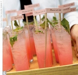 Pink Grapefruit Mojito! The perfect signature cocktail for a Spring or Summer wedding!