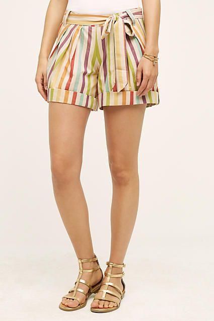 Sol Stripe Shorts - anthropologie.com