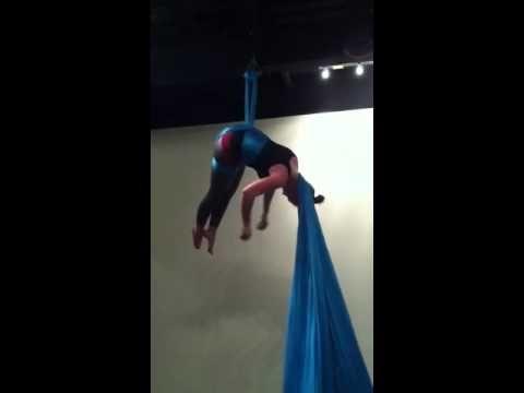 Aerial Silks: hip key sequence