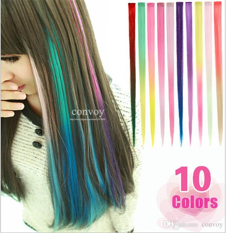 26 best hair extension clip ins images on pinterest hairstyles discount womens gradient bright colorful synthetic hair extension ladies party clip in clip on cosplay hair pmusecretfo Gallery