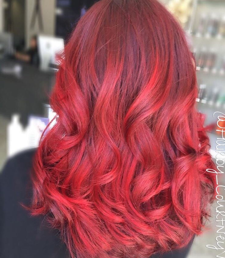 Hair color red bbw