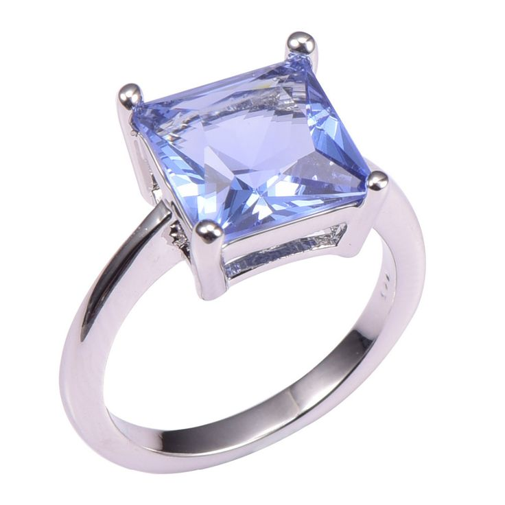 Simulated Tanzanite 925 Sterling Silver Wedding Party Fashion Design Romantic Ring  Size 5 6 7 8 9 10 11 12 PR40
